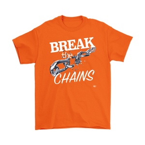 Break The Chains White Mens T-shirt - Audio Swag