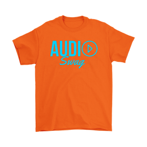 Audio Swag Blue Logo Mens T-shirt - Audio Swag