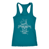 Faith Love Loyalty Skull Ladies Racerback Tank Top - Audio Swag