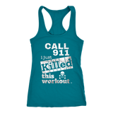 Killed This Workout Fitness Ladies Racerback Tank Top