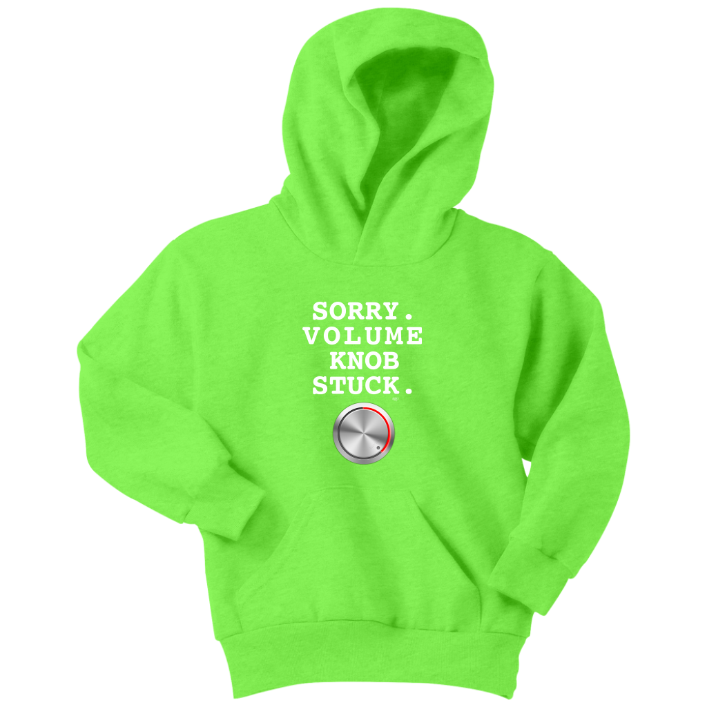 Sorry. Volume Knob Stuck. Youth Hoodie - Audio Swag