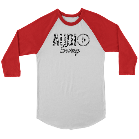 Audio Swag Zebra Logo Raglan - Audio Swag