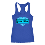 Good Vibes Diamond Ladies Racerback Tank Top - Audio Swag