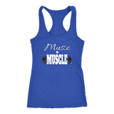 Music & Muscle Ladies Racerback Tank Top - Audio Swag