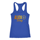 Audio Swag Gold Logo Ladies Racerback Tank Top - Audio Swag