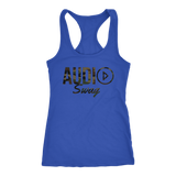 Audio Swag Camo Logo Ladies Racerback Tank Top - Audio Swag