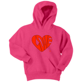 Love Heart Graphic Youth Hoodie - Audio Swag