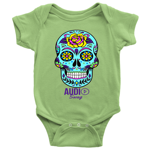 Sugar Skull Rose Baby Bodysuit