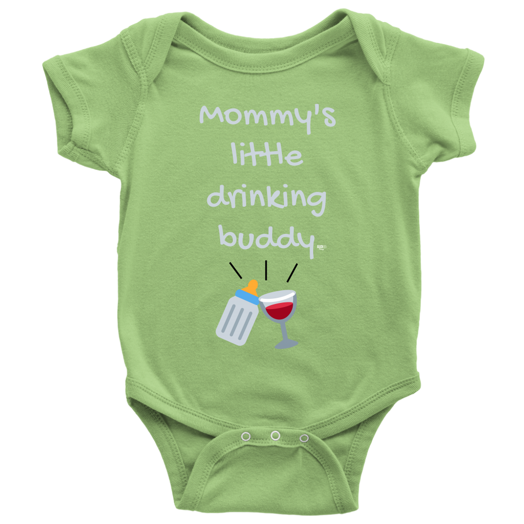Mommy's Little Drinking Buddy Baby Bodysuit - Audio Swag
