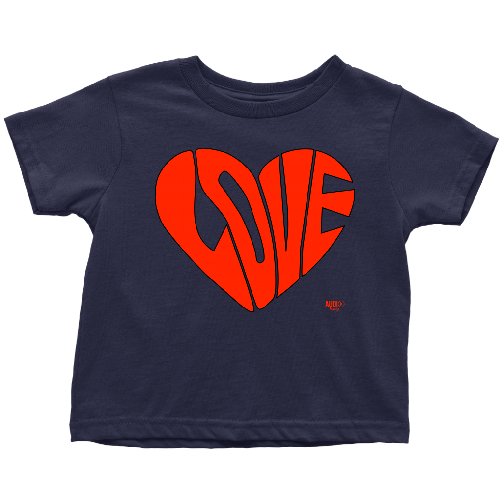Love Heart Graphic Toddler T-shirt - Audio Swag