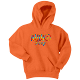 Audio Swag Autism Awareness Puzzle Logo Youth Hoodie - Audio Swag