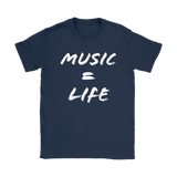Music = Life Ladies Tee - Audio Swag