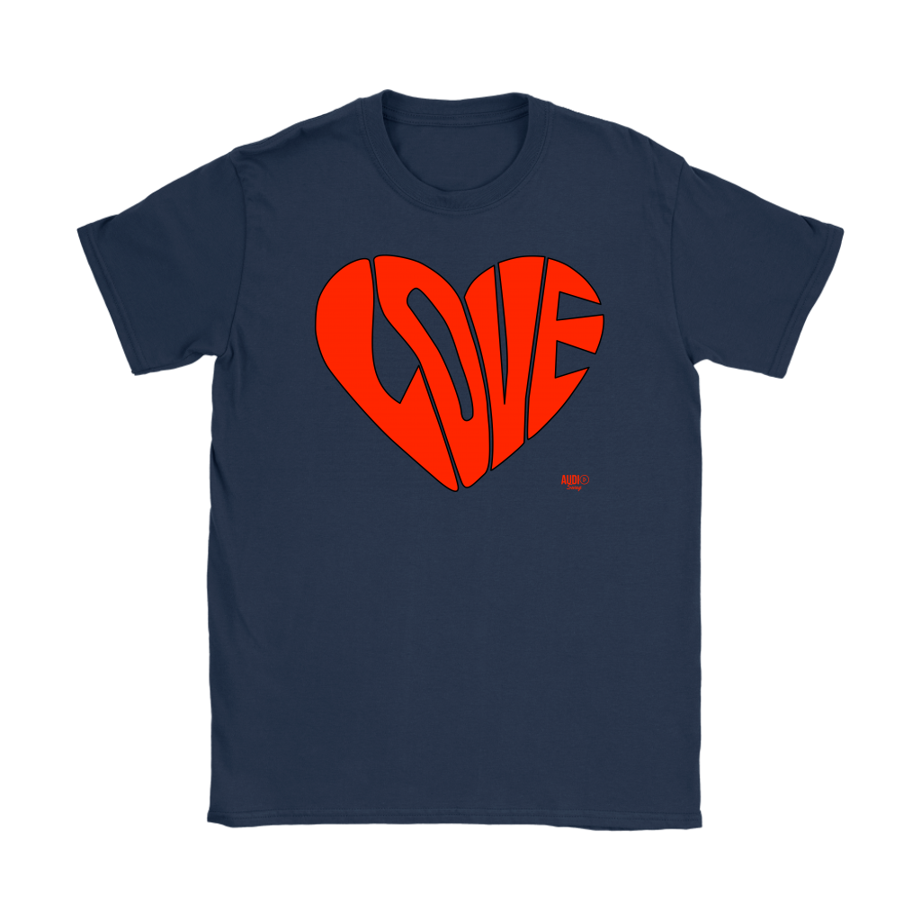 Love Heart Graphic Ladies T-shirt - Audio Swag