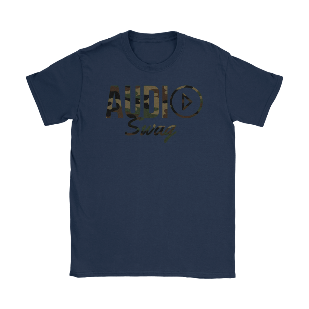 Audio Swag Camo Logo Ladies T-shirt - Audio Swag