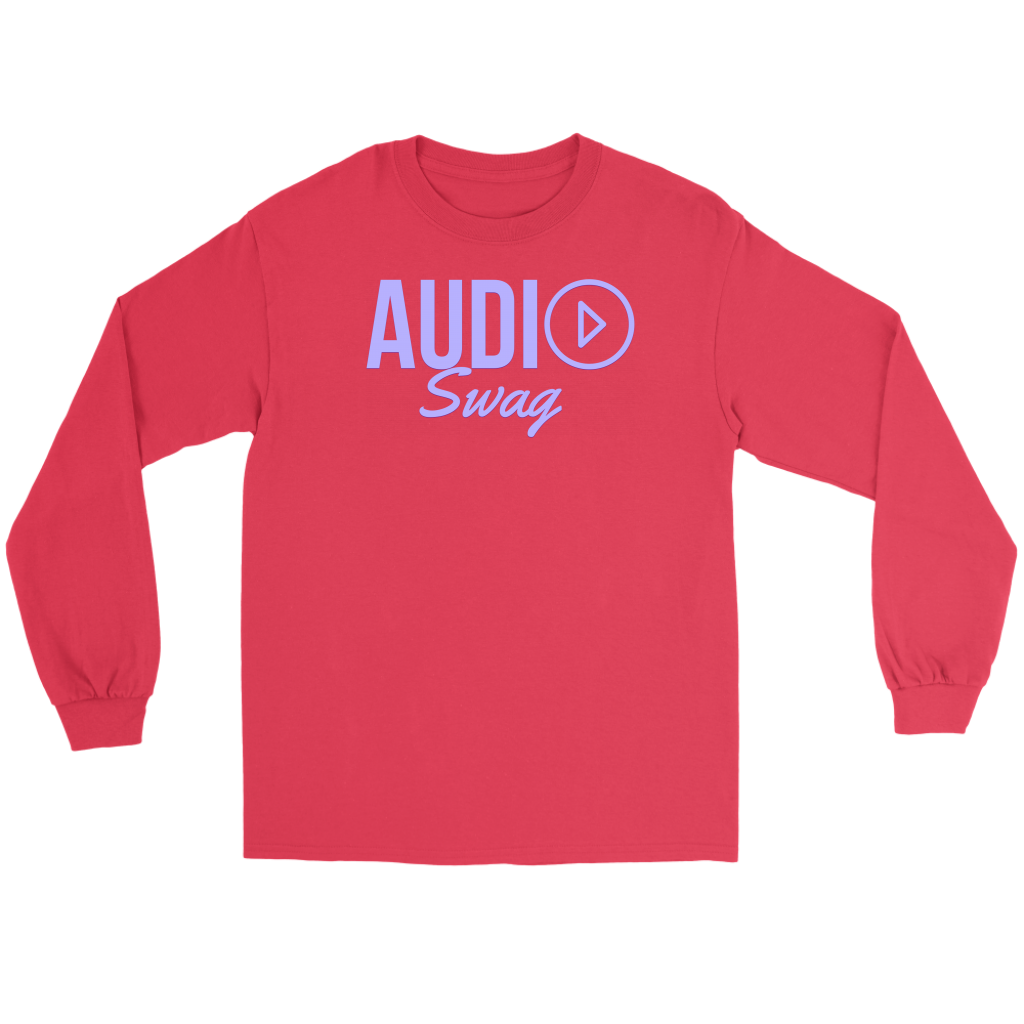 Audio Swag Lavender Logo Long Sleeve T-shirt - Audio Swag
