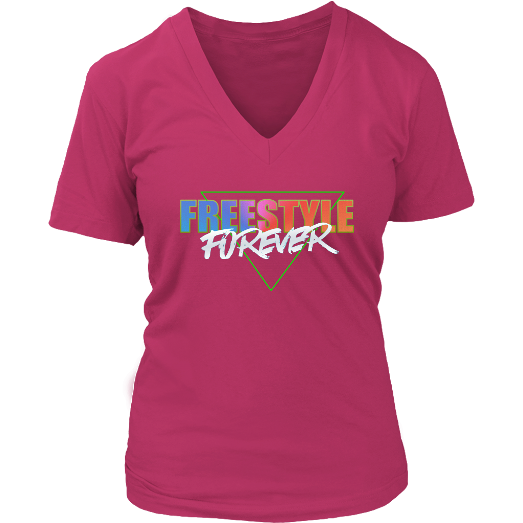 Freestyle Forever Ladies V-Neck T-shirt - Audio Swag