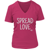 Spread Love Ladies V-neck T-shirt - Audio Swag