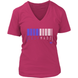 Self Made Ladies V-neck T-shirt - Audio Swag