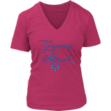 Gypsy Soul Ladies V-neck T-shirt - Audio Swag