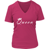Queen Ladies V-Neck Tee - Audio Swag