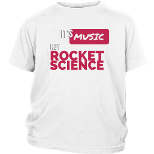 Its Music Not Rocket Science Youth Tee - Audio Swag