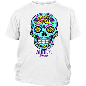 Sugar Skull Rose Youth T-shirt - Audio Swag
