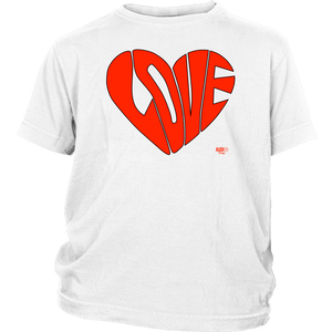 Love Heart Graphic Youth T-shirt - Audio Swag