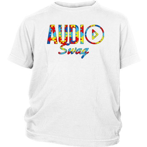Audio Swag Autism Awareness Puzzle Logo Youth T-shirt - Audio Swag