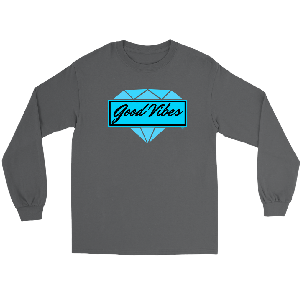 Good Vibes Diamond Long Sleeve Tee - Audio Swag