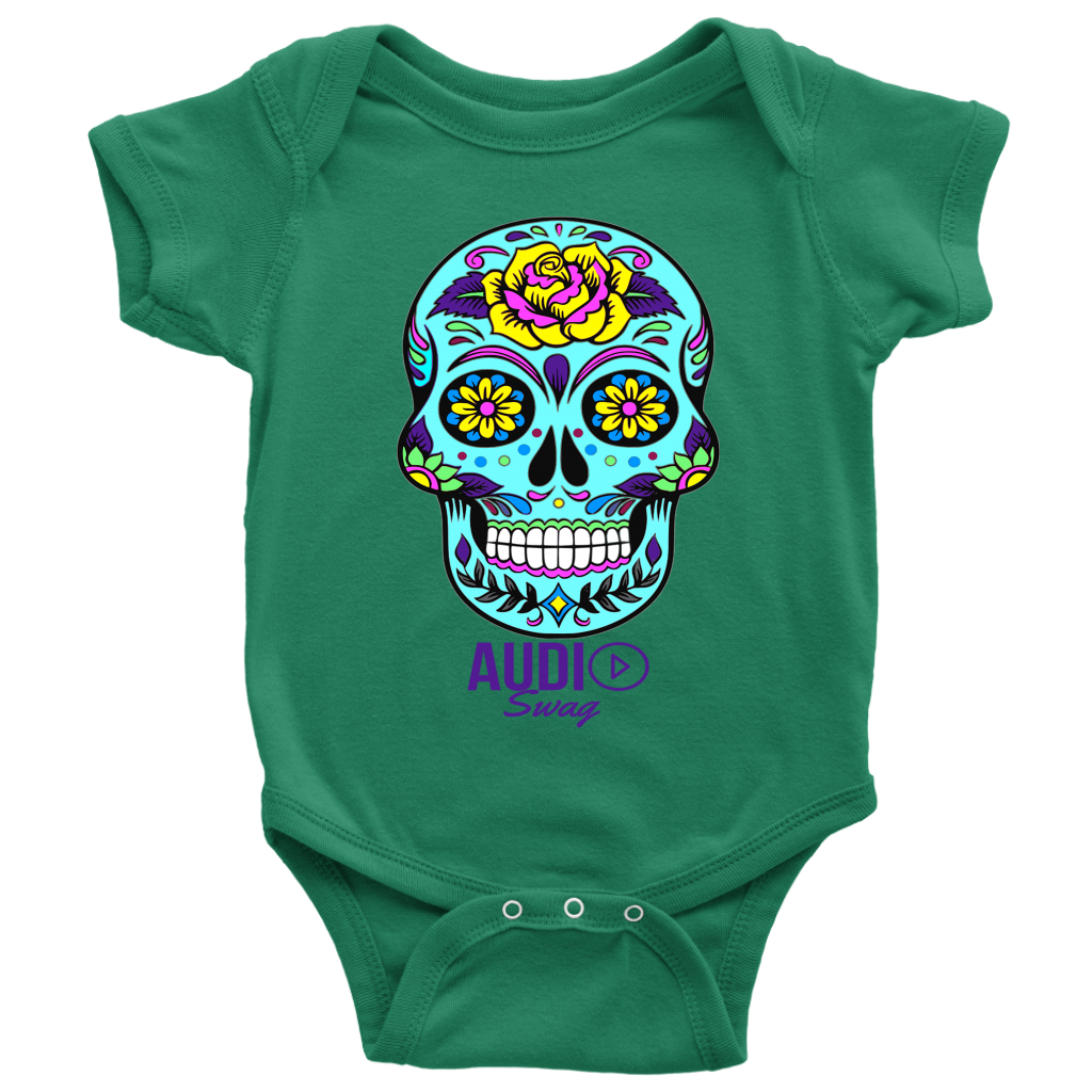 Sugar Skull Rose Baby Bodysuit - Audio Swag