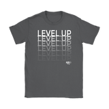 Level Up Fade Ladies T-shirt - Audio Swag