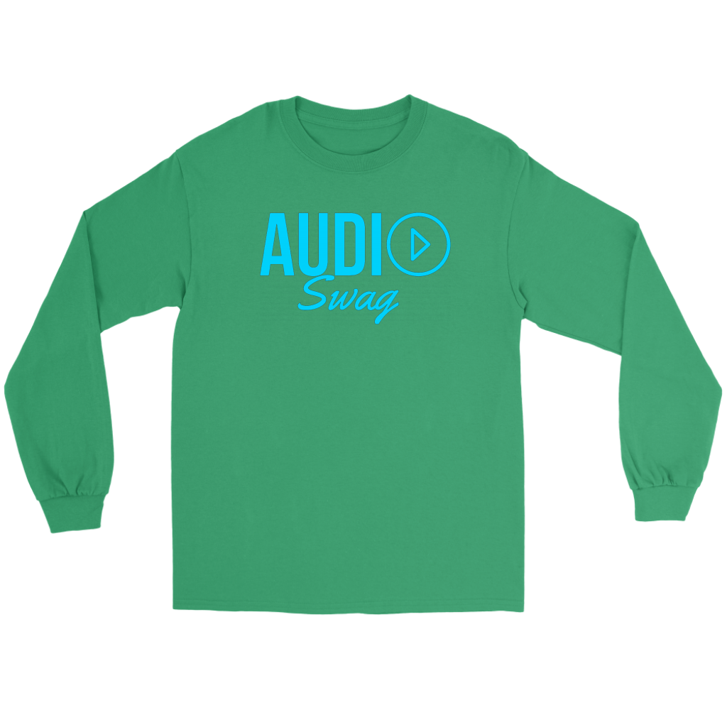 Audio Swag Blue Logo Long Sleeve T-shirt - Audio Swag