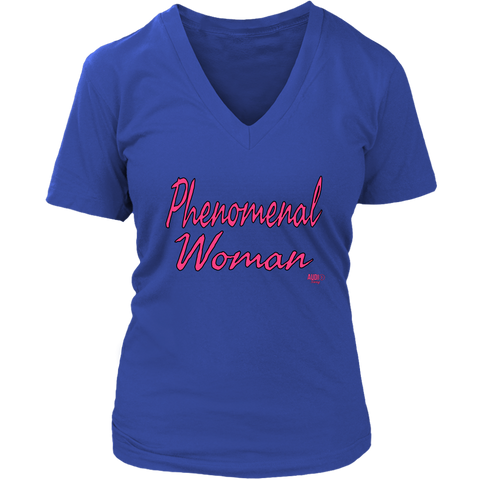 Phenomenal Woman Ladies V-neck T-shirt
