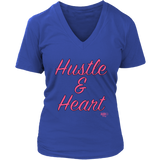 Hustle & Heart Ladies V-neck T-shirt