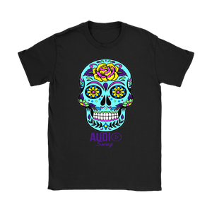 Sugar Skull Rose Ladies T-shirt - Audio Swag