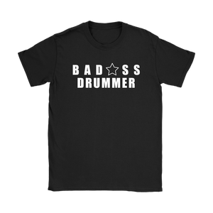 Bad@ss Drummer Ladies Tee - Audio Swag