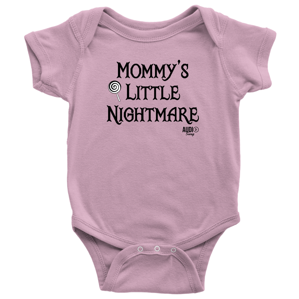 Mommy's Little Nightmare Baby Bodysuit - Audio Swag