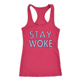 Stay Woke Ladies Racerback Tank Top - Audio Swag