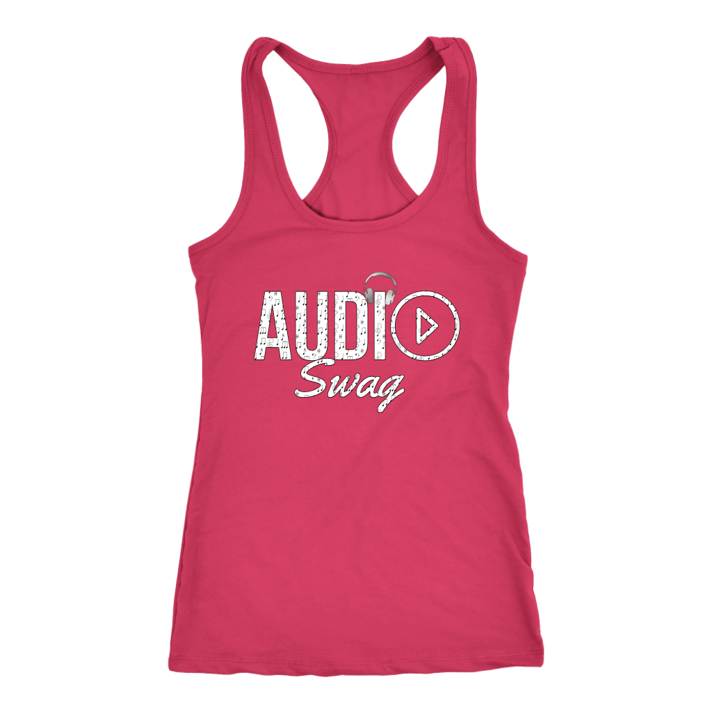Audio Swag Music Logo Ladies Racerback Tank Top - Audio Swag