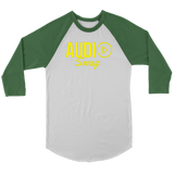 Audio Swag Yellow Logo Raglan - Audio Swag