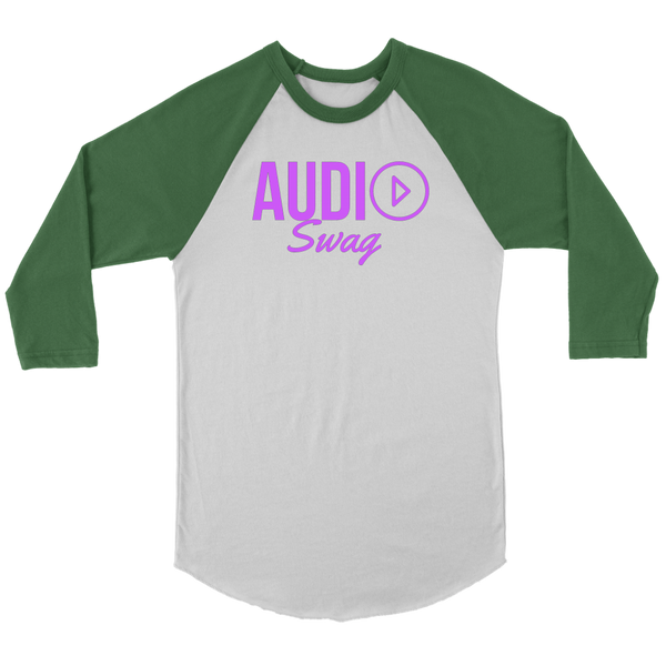 Audio Swag Fuschia Logo Raglan - Audio Swag