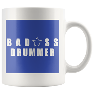 Bad@ss Drummer Mug - Audio Swag