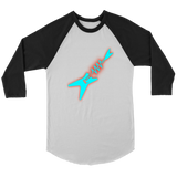 Neon Electric Guitar Raglan - Audio Swag