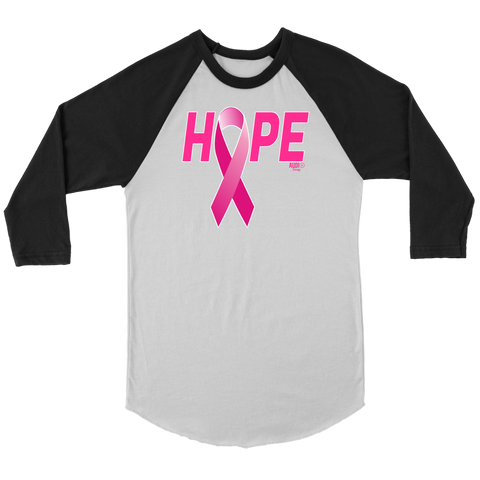 Breast Cancer Awareness Ribbon Hope Raglan - Audio Swag