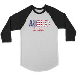 Audio Swag USA Logo Raglan - Audio Swag