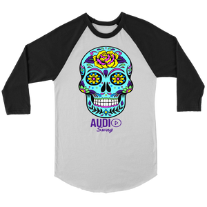 Sugar Skull Rose Raglan - Audio Swag