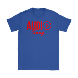 Audio Swag Red Logo Ladies Tee - Audio Swag