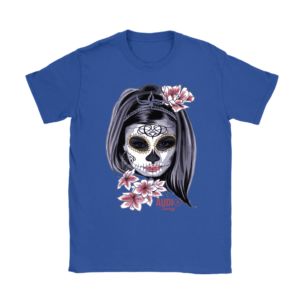 Day Of The Dead Woman Ladies T-shirt - Audio Swag