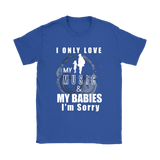 I Only Love My Music & My Babies Ladies Tee - Audio Swag
