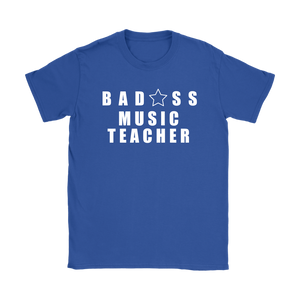 Bad@ss Music Teacher Ladies Tee - Audio Swag